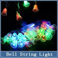 1x Multi-color 5M 28 LED Small Bell String Light Fairy Lights Xmas Party New Year Wedding Christmas Decoration 220V EU Plug