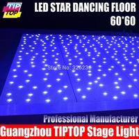 free shipping 60cm*60cm Led Star Dancing Floor AC90V-240V 4W Power 9KG One Piece Led star Dance Floor wedding stage effect light