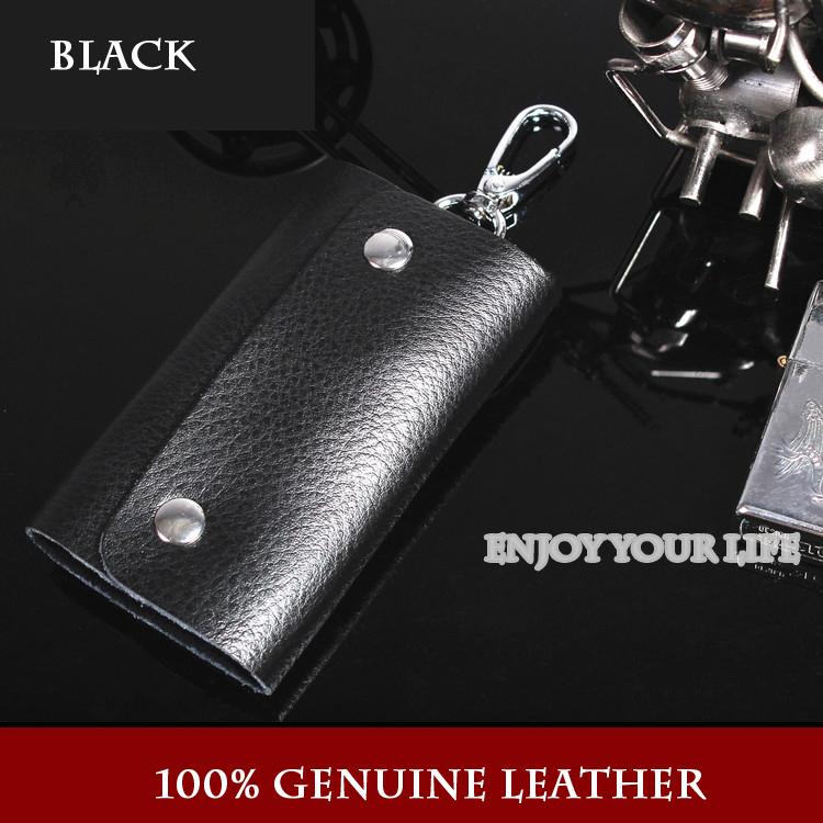 100% echte! Mode multicolor unisex kuh leder autoschlüssel brieftaschen für frauen männer schlüssel tasche inhaber