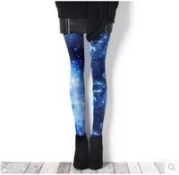 Single day sky starlight the Milky Way Harajuku large code pantyhose Leggings winter women Tights stockings medias lingerie sexy