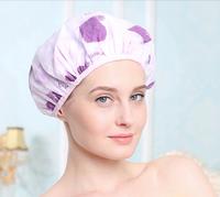 7 Color Microfiber Magic Drying Turban Wrap Hat/Cap Quick Dryer Bath Salon Towel double layer waterproof Cover+2Free hair bands