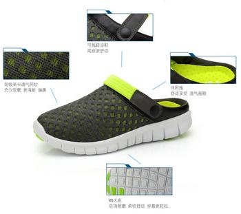 Новый мужчины тапочки обувь мода дышащая выдалбливают сандалии шлепанцы кожаный тенденцию ...
