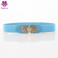 2014 fashion elastic belt designer female all match decoration cummerbunds belt female wide belts  Hollow Crystly waist belt