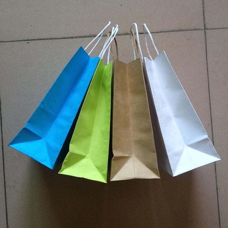 White Shopping Bag Black Handle Kraft Handle Shopping Bags