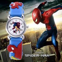 2015 Hot sale fashion watch child cartoon watches spider man sport watches lovely Jelly quartz watch kids hour relogio relojes