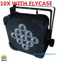 9*10W RGBW  10pcs with flightcase free shipping by DHL