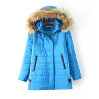 2014 Winter Jacket Coat Thicken Slim Female Fur Collar Long Coat Casual Parka Women Plus Size 3XL 4XL Free Shipping