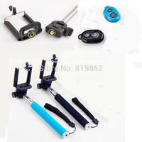 Extendable Selfie Stick Handheld Monopod Stick+Bluetooth Camera Shutter Selfie Remote Controller+Clip Holder for iPhone Samsung