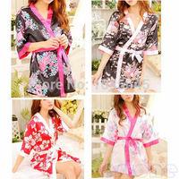 D19   Sexy Womens Sleepwear Robe Japanese Kimono Costume Nightgown Uniform