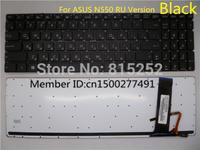 Laptop Keyboard For ASUS N550 N550JK N550JV N550LF Q550LF Without Frame With Backlit Black RU Russia 9Z.N8BBU.K0R 0KNB0-6621RU00