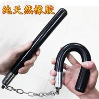 Rubber nunchakus shuangjieao rubber stick two stick two practical bearing version training tutorial