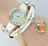 Free shipping 2015 fashion casual 2pcs creative bracelet watch diamond Wristwatches 6 colors