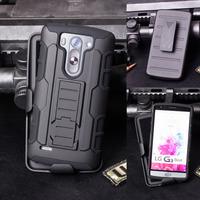 G3 Mini Case,Future Armor Heavy Duty Hybrid Hard Case For LG G3 Mini D722 D725 D728 D724 Cover Belt Clip Holster + Flim + Stylus