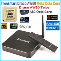 New Tronsmart Draco AW80 Telos Android TV Box Allwinner A80 Octa Core 4G/32G 802.11ac 2.4G/5GHz WiFi 4K*2K H.265 SATA Smart TV