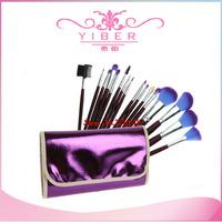 Big  Promotion Sale !! 16 PCS Makeup Brush Set 16pcs Makeup Cosmetic brushes + Purple PU Leather case Drop shipping