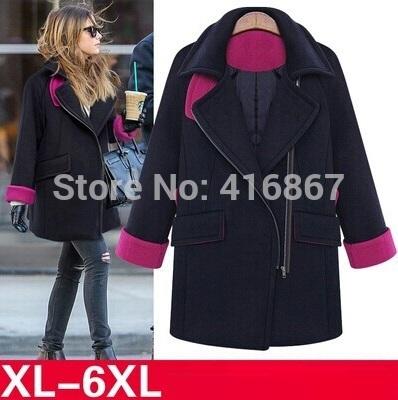 2014 plus size Winter Coats Women Long Cashmere Overcoats Trench Desigual Down Jackets Designer Woman Wool Coats Abrigos Mujer(China (Mainland))