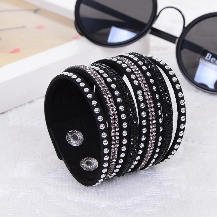 2014 New Products Sell Like Hot Cakes Fashion Charm Double Circle Multilayer Leather Bracelets Men&Bracelet women !Free Shipping(China (Mainland))