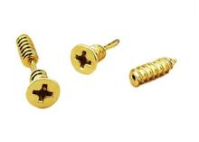 TE690 1pcs Gold Black Silver Color Single Fashion Unisex Fine Stainless Steel Whole Screw Stud Earrings