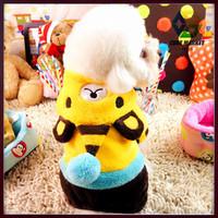 CUBE MARKET PET SHOP Honey Bear Style dog jumpsuit Warm Fleece clothes for small dog