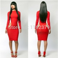 Free shipping Elegant Fashion Sexy package buttock  dress long-sleeved dress party dress autumn winter dress