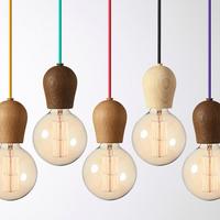 Simple Wood Pendant Personalized fashion LIght Warm LIght Children Lamp Creative decorative lights