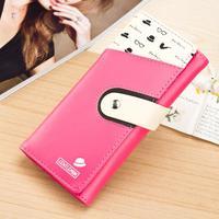 Autumn new purses for Korean fashion student wallet phone bag Pu Velcro wallet wholesale
