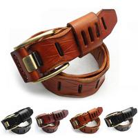 New men / girl luxury high quality 100% Genuine Cowskin Belts Fashion Cowskin Belts Men's Classical Leather Belts