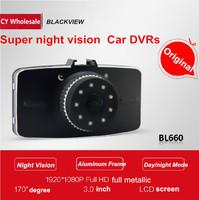 Original Novatek HD 1080P 3'' Car DVR car camera recorder with G-Sensor super night vision car monitor free shipping