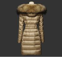 UK Luxury 2014 Winter Coat Outwear Jacket Parka Women thickening slim large fur collar  medium-long down coat female warm hot