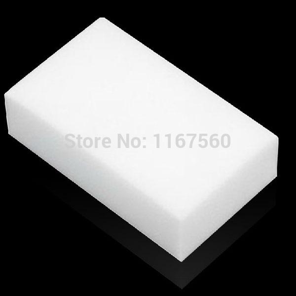 Free shipping White Magic Melamine Cleaner Eraser Sponge Size 10x6x2cm Kitchen Desk Table Car Helper(China (Mainland))