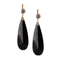 Fashion Gold Plated Clear Stone Pendant Crystal Drop Earrings Bijoux for Women Girls