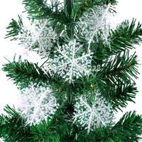 51PCS/Lot 3PCS/Bag Christmas Tree Snowflake white color Christmas decoration Size 10x10cm Christmas hanging decoration gift
