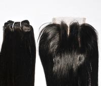 6A 3.5x4 Brazilian Lace Closure Human Virgin brazilian straight Hair Closure Unprocessed Top Closure Middle 3 Part BleachedKnots