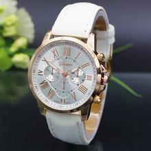 NOUVEAU Geneva Watch femmes Quartz Montres Mode Cuir jeunes sportifs femmes montre en or Casual feminino Relógios bracelets Robe(China (Mainland))