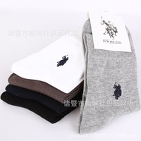 2014 Autumn New High Quality Combed Cotton Men's Socks Brand Spring Casual polo man Socks Colorful 5 pairs/lot Free Shipping