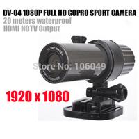 Portable 1080P HD Sport Camera with output Waterproof hd camera video camera digital camera mini camera 1920*1080P DV-04