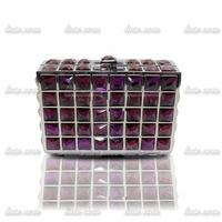 2014 luxury full diamond rhinestone bag ladies hand bag woman evening bag Rhinestone Crystal shoulder messenger hand bag