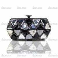 New diamond package upscale fashion Crystal Tassel Diamond Women Purse Bags Bridal Handbags Beaded Rhinestone Evening Bag