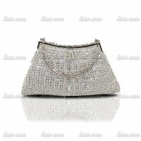 2014 New luxury crystal evening bag full of diamond drill clutch handbag Chain Shoulder Strap Purses Slim Long Ladies Handbags