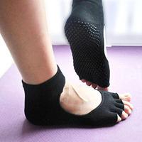 Women Yoga Socks Five Fingers Antiskid Backless