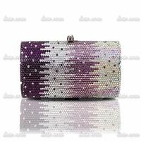 The new 2014 luxury full diamond bag clutch banquet bag Fashion Pearl Beading Shell Shake Rhinestones Evening Clutch Bags