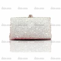 The new 2014 luxury full diamond evening bag banquet bag clutch evening bag rhinestone ring female small the bride wedding bag