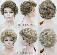 Sweet Fashion Women Capless Short Curly Synthetic Hair  Wig Sweet Fashion Women Capless Short Synthetic Wig free shipping