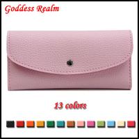 Free Shipping  Card Holder Purse Women Clutch  Wallet Ladies PU Leather Fashion Buckle Hasp Female Mini Handbag Multi Color