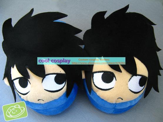 Anime Death Note L Ryugasaki plush slippers(China (Mainland))