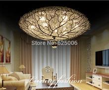 18W/27w Bird's nest led Ceiling Lights aluminum children's bedroom Ceiling Lamp Dia. 40cm 50cm bird's-nest lamp study light 220V(China (Mainland))