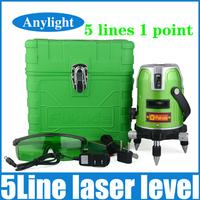 Fukuda green laser level 5 line 1 point 360 degree rotary laser line Ek-468G Horizontal and Vertical cross levels WAL28