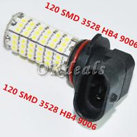 1 PCS 120 SMD 3528 HB4 9006 HID Xenon White Fog Day Light Lamp Bulb