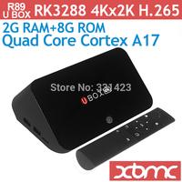 U Box R89 WIFI Bluetooth 4K Tv Box Google Android 4.4 Rk3288 Quad Core  2G RAM 8G ROM Smart Android TV Box XBMC Media Player