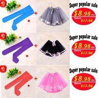 New Arrival Children Clothing Mini Fashion Kids Tutu Skirt Cotton Warm Leggings For Girl Solid Color